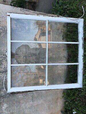 Vintage Sash Antique Wood Window 34 X 36 6 Pane Repurpose Project 101
