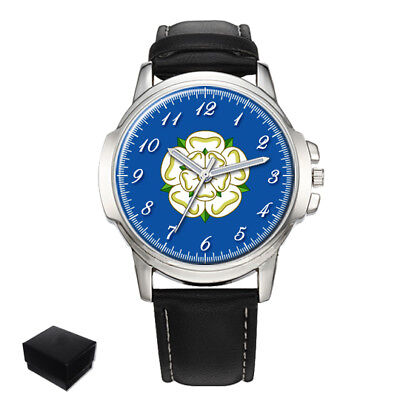 Yorkshire Rose County Flag Gents Mens Wrist Watch  Gift Engraving
