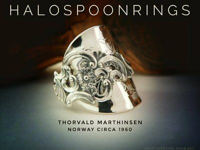Spoon Ring Norwegian Sterling Silver Marthinsen Fancy Pattern The Perfect Gift