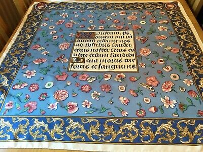 VINTAGE ARTS AND CRAFTS DESIGN SILK SCARF.  VGC.  34 x 34 INCHES.  BEAUTIFUL! |