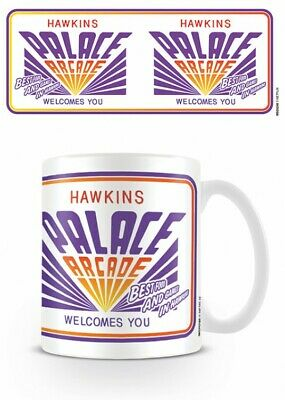 Stranger Things - Hawkins Palace Arcade Poster Foto-Tasse Becher (9x8cm) #117608