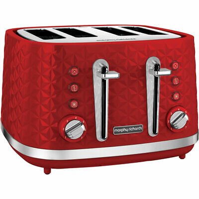 Morphy Richards 248133 Vector - 4 Slice Toaster - Red