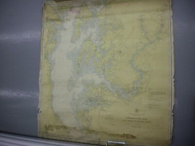 Vintage C&GS Navigational Chart 1226 Chesapeake Bay Cove Point to Sandy Pt 1943