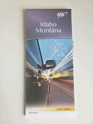 Idaho & Montana State Map 2018-2019 AAA ROADMAP Free Shipping