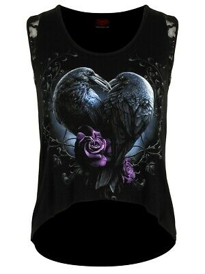05472ca4 SPIRAL RAVEN QUEEN Lace Up Long Sleeve Top [Special Order] - Gothic ...