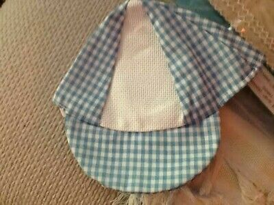 New Charles Craft Blue Gingham Cap Hat 14ct Embroidery Cross Stitch Baby Shower