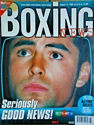 BOXING NEWS - 14 AUG 1998 - MULLINGS, ETC free p&p to uk