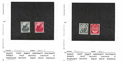 Lot of 25 Germany MH Mint Hinged Stamps Scott Range # 442 - 585c #141157 X R