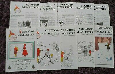 RUPERT THE BEAR - NUTWOOD NEWSLETTER X 10 - Issues 21-30 -