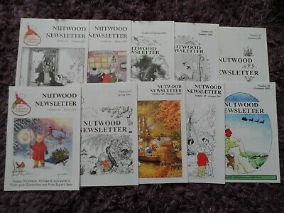 RUPERT THE BEAR - NUTWOOD NEWSLETTER x 10 - 41-50