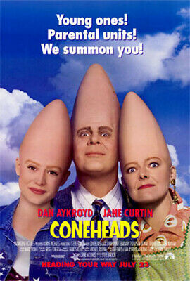 Coneheads (1993) original movie poster - single-sided - rolled