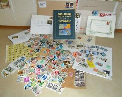 'Behind Every Story is a Stamp' Album + maybe 100's of Old Stamps and other