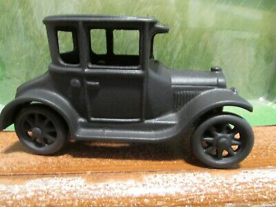 1920's Arcade Cast Iron Model T Ford Coupe, Original Vintage Toy Car