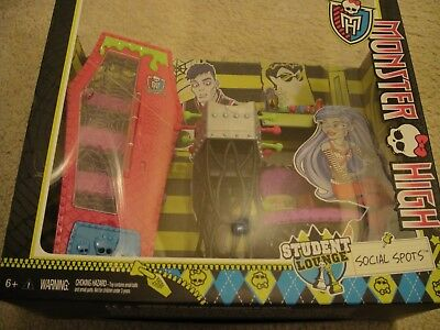 New Monster High STUDENT LOUNGE Social Spots Accessory Playset