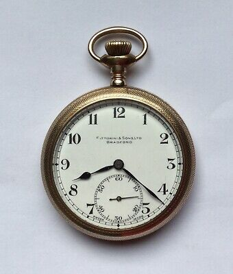 Vintage 'Vertex' Gold Plated Pocket Watch by Fattorini & Sons - Working Order