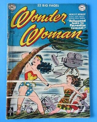 WONDER WOMAN #40 ~ 1st SERIES 1950 DC GOLDEN AGE COMIC BOOK ~ Mid Grade