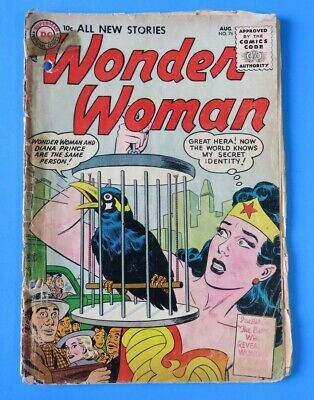 WONDER WOMAN #76 ~ 1st SERIES 1955 DC GOLDEN AGE COMIC BOOK ~ Low Grade