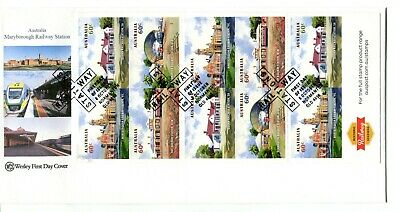 2013 Australian Railway Stations (10 x 60c Stamp Booklet) Wesley FDC