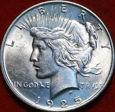 Uncirculated 1925 Philadelphia Mint Silver Peace Dollar