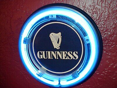 ***Guinness Irish Stout Beer Bar Advertising Man Cave Blue Neon Wall Sign