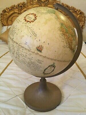 "Vintage 12"" World Globe By Heritage Collection"