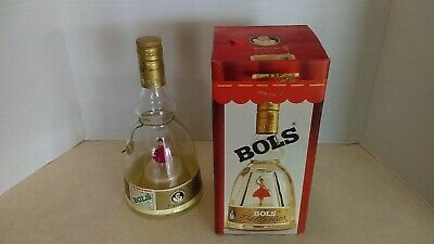Vintage Bols Gold Dancing Ballerina Music Figure Inside Bottle Empty With Box