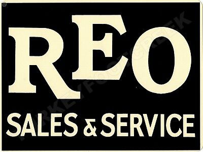 """REO SALES & SERVICE 9"""" x 12"""" Sign"""