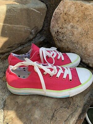 Converse All Star Shoes Size 7M pink Great Condition boho retro
