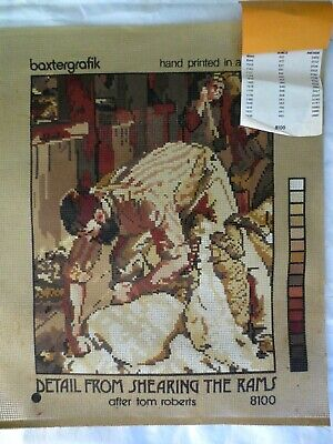 Tapestry Canvas Shearing The Rams Tom Roberts Baxtergrafik 8100