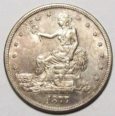 1877-S TRADE DOLLAR U.S.Silver Coin  Original Choice BU    #0A
