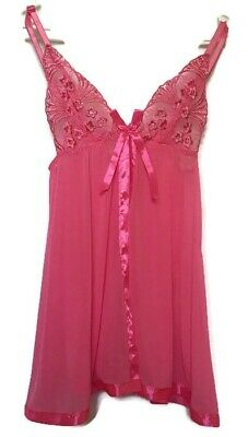Passion Forever hot pink babydoll Lingerie Size M