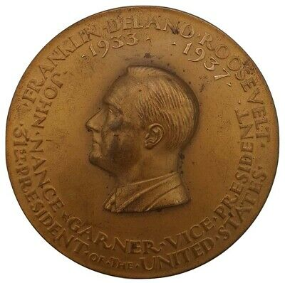 1933 Rare  Franklin Roosevelt Official Inaugural Medal