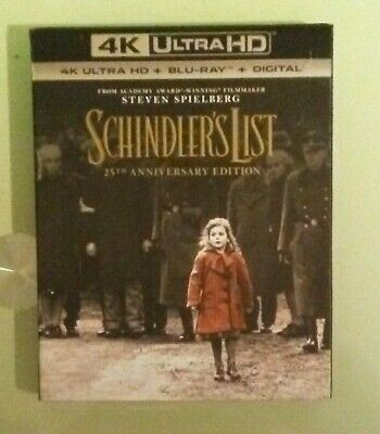 schindlers SCHINDLER'S LIST 25th anniversary edition  4K ULTRA HD / BLU RAY NEW