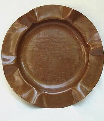 Arts & Crafts Hand Hammered Copper Charger ~ Marked