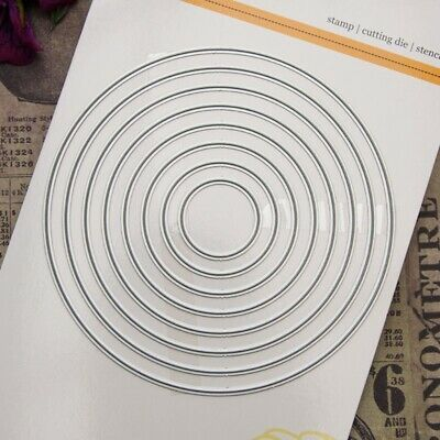 Round Cutting Dies Stencil  Scrapbooking Embossing Album Paper Card DIY Crafts