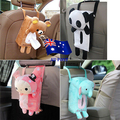 Lovely Car Home Rectangle Tissue Box Cover Holder Paper Box Bathroom Storage NU