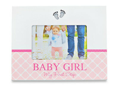 Babuqee Led Baby Photo Frame White & Pink BABY GIRL My First Step RRP £35