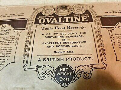 Very Old OVALTINE CHOCOLATE  WRAPPER -   VERY RARE