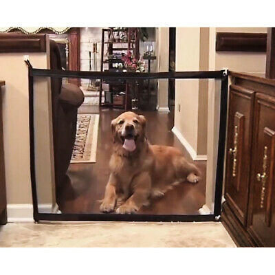 Mesh Pet Dog Gate Safety Guard Fence Folding Baby Toddler Stair Gate Isolation