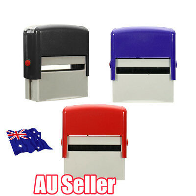 Custom Personalised Self Inking Rubber Stamp Kit Business Name Address DIY NU