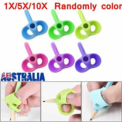 10X Children Pencil Holder Pen Writing Aid Grip Posture Correction Device Tool N