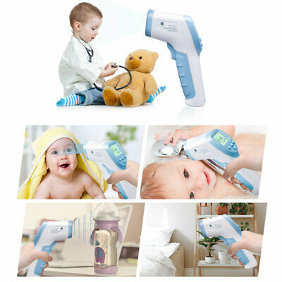Infrared thermometer baby front thermometer Digital black IR LCD no-contact body