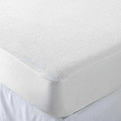COT BED 60x120 100% WATERPROOF TERRY TOWEL MATTRESS PROTECTOR FITTED SHEET COVER