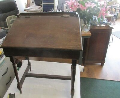 TRIANG CHILD'S WOODEN  DESK labelled approx 1933 original