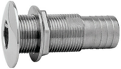 """THRU-HULL FITTING ATTWOOD 23-665413 STAINLESS HOSE 3//4/"""" SHORT MARINE BOAT PARTS"""
