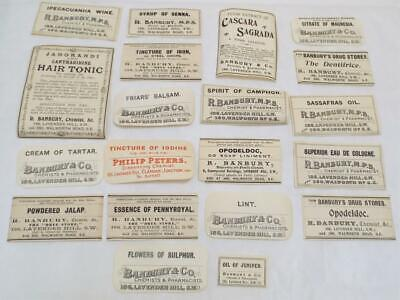 Pharmacist Chemist Drug Store 20 Antique Victorian Labels (c)