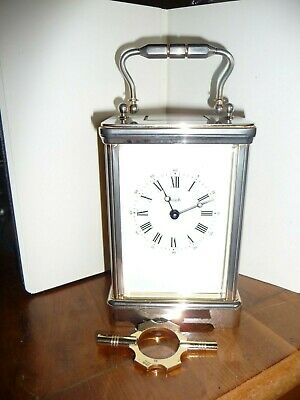 HARRODS CARRIAGE CLOCK by ANGELUS 11 JEWELS MADE IN ENGLAND