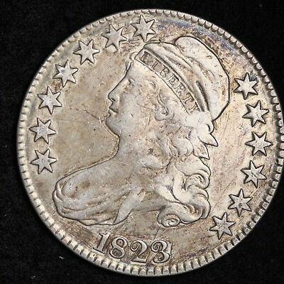 1823 Capped Bust Half Dollar CHOICE VF FREE SHIPPING E440 RFC