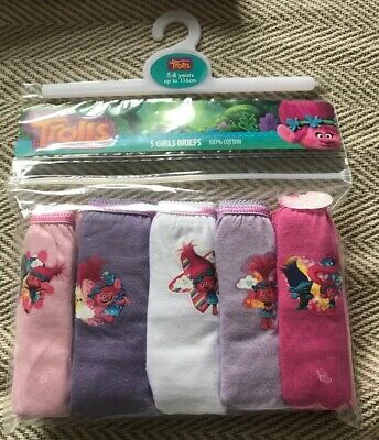 BNWT Girls 5 Pack Trolls Patterned Pink Mix Pants. Age 5-6 Years