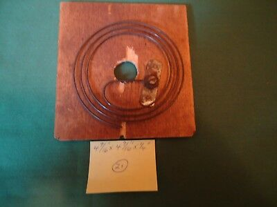 "Vintage Cuckoo Clock Back Panel With Gong 4-9/16"" W x 4-9/16"" H  #21"